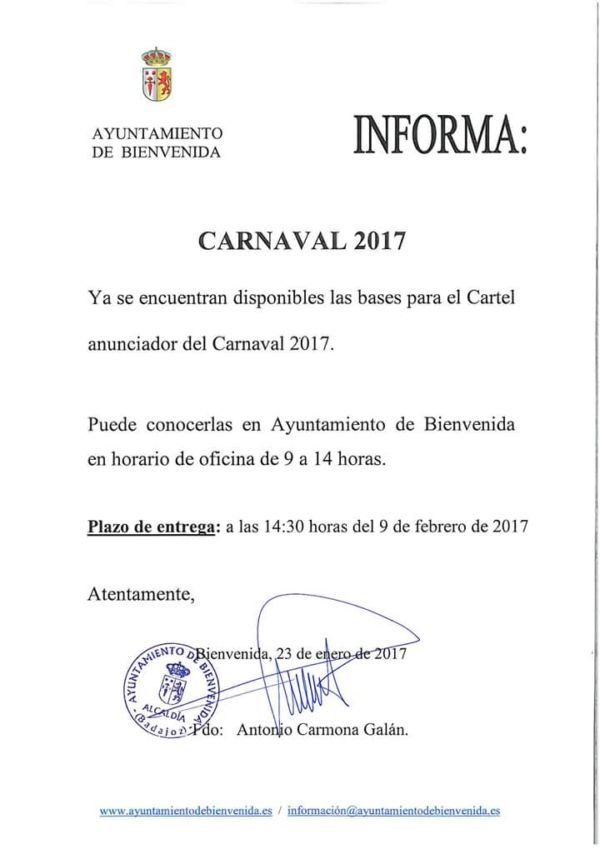 concurso cartel carnaval