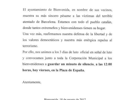 MINUTO DE SILENCIO POR EL ATENTADO DE BARCELONA