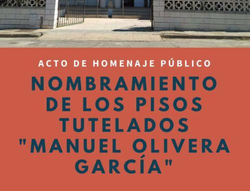ACTO DE HOMENAJE PUBLICO: MANUEL OLIVERA GARCIA