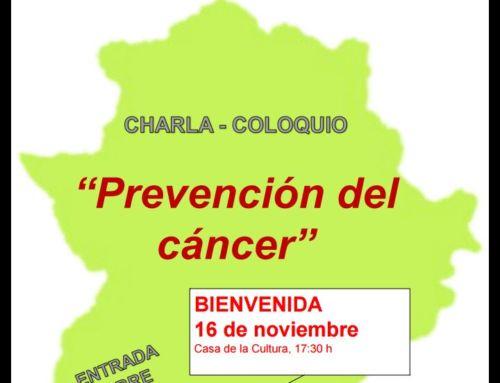 "CHARLA-COLOQUIO ""`PREVENCIÓN DEL CÁNCER"""