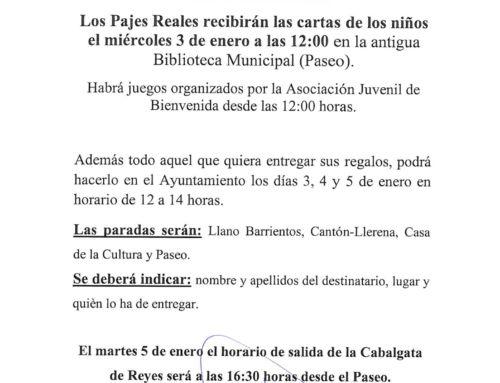 VISITA DE LOS PAJES REALES Y LLEGADA DE LOS REYES MAGOS DE ORIENTE