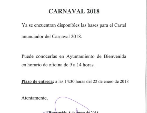 CARNAVAL 2018. CONCURSO CARTEL ANUNCIADOR