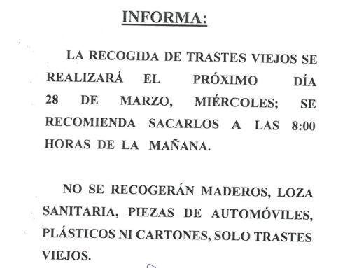 RECOGIDA DE TRASTES VIEJOS