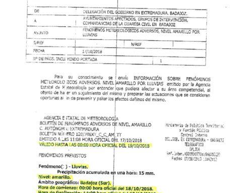 ALERTA AMARILLA POR LLUVIAS.