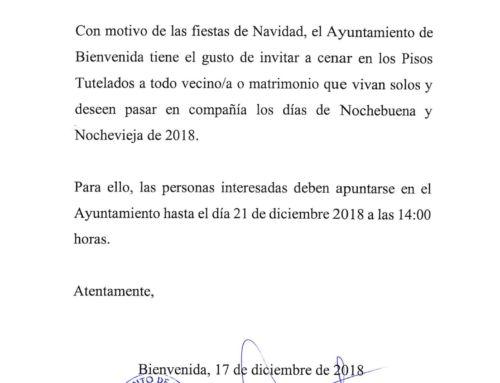 ESTAS NAVIDADES, EN BIENVENIDA, NADIE CENA SOLO.