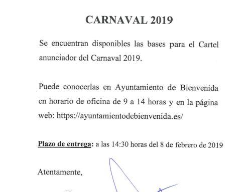 Carnaval 2019. Abierto el plazo para el concurso del cartel anunciador.
