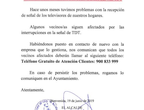 Incidencias en la recepción de la señal de TDT