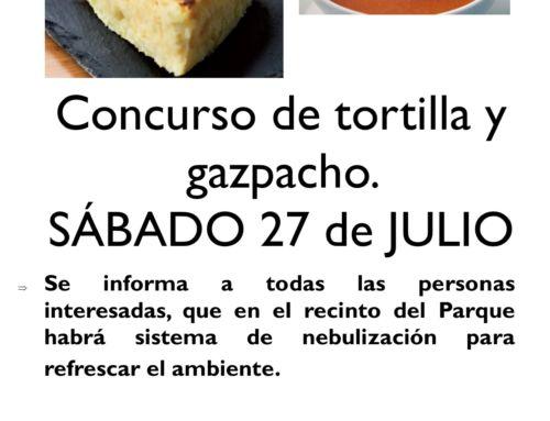 XII Concurso de Tortilla y Gazpacho.