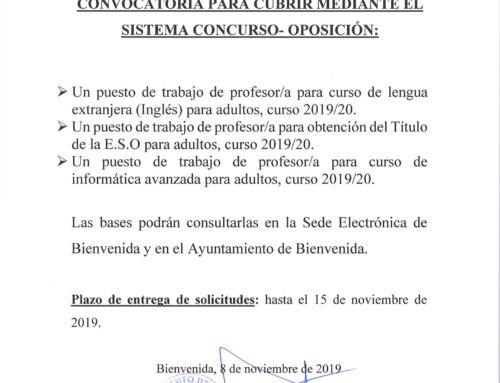 Convocatoria para Profesores/as para los PALV