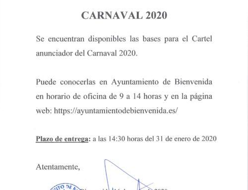 Carnaval 2020: Bases Concurso Cartel Anunciador