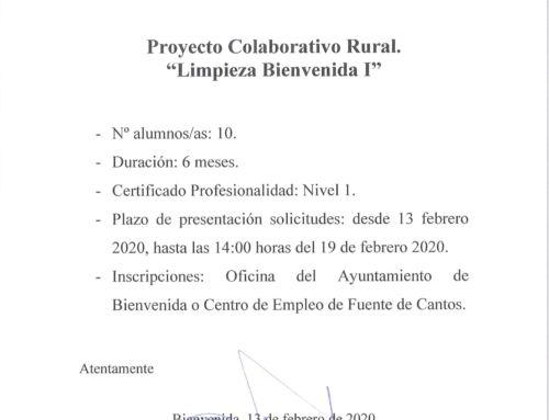 """Proyecto Colaborativo Rural """"Limpieza Bienvenida I"""""""